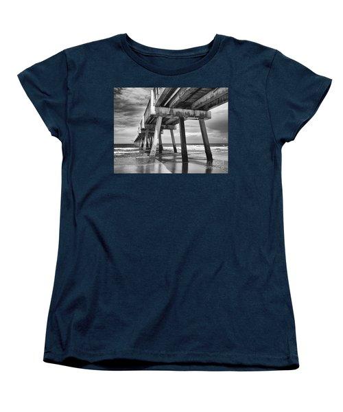 Jacksonville Beach Florida Usa Pier Women's T-Shirt (Standard Cut) by Vizual Studio