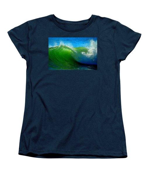 Jade Cascade Women's T-Shirt (Standard Cut) by Dianne Cowen