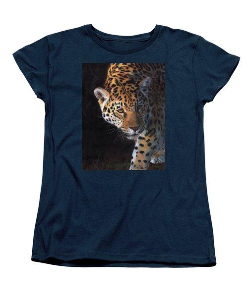 Jaguar Portrait Women's T-Shirt (Standard Cut) by David Stribbling