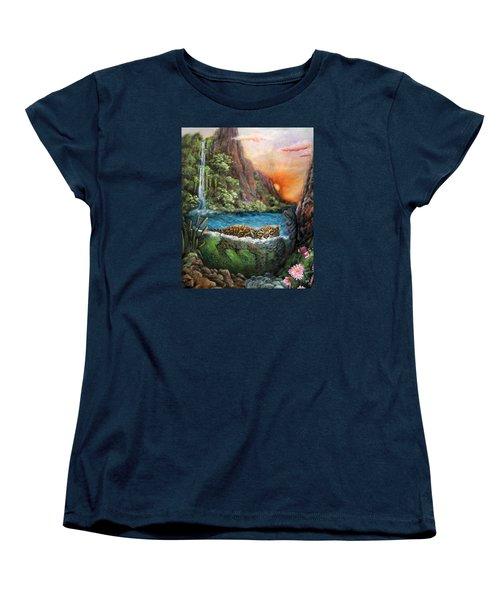 Jaguar Sunset  Women's T-Shirt (Standard Cut) by Retta Stephenson