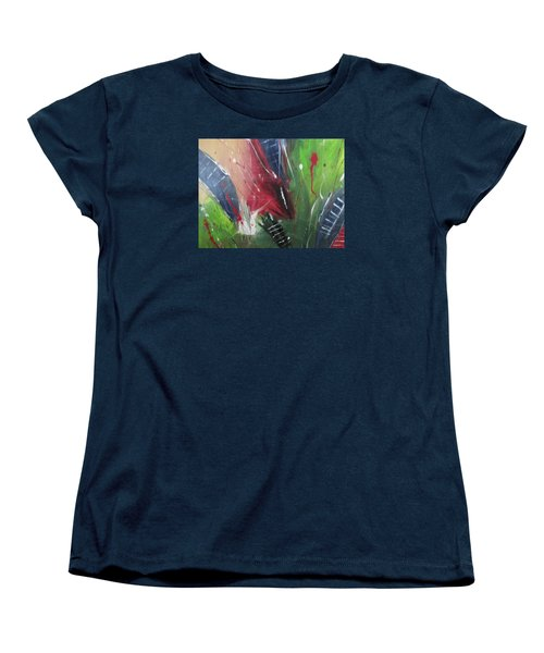 Women's T-Shirt (Standard Cut) featuring the pastel Jammin by Sharyn Winters