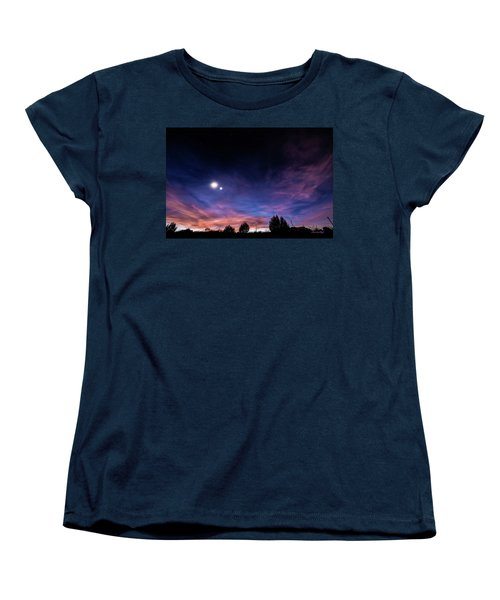 January 31, 2016 Sunset Women's T-Shirt (Standard Cut) by Karen Slagle
