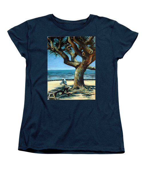 Women's T-Shirt (Standard Cut) featuring the painting January Afternoon by Suzanne McKee