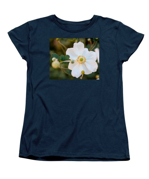 Japanese Anemone Women's T-Shirt (Standard Cut) by Terri Harper