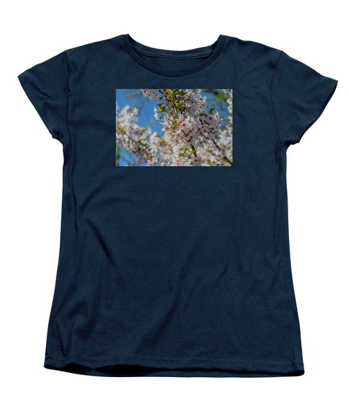 Japanese Cherry  Blossom Women's T-Shirt (Standard Cut) by Daniel Precht