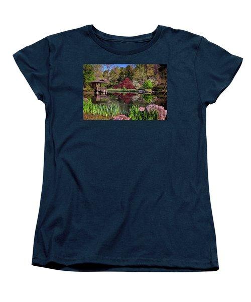 Women's T-Shirt (Standard Cut) featuring the photograph Japanese Garden At Maymont by Rick Berk
