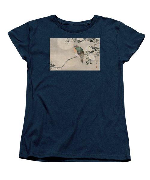 Japanese Silk Painting Of A Wood Pigeon Women's T-Shirt (Standard Cut) by Japanese School