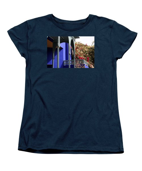 Women's T-Shirt (Standard Cut) featuring the photograph Jardin Majorelle 3 by Andrew Fare
