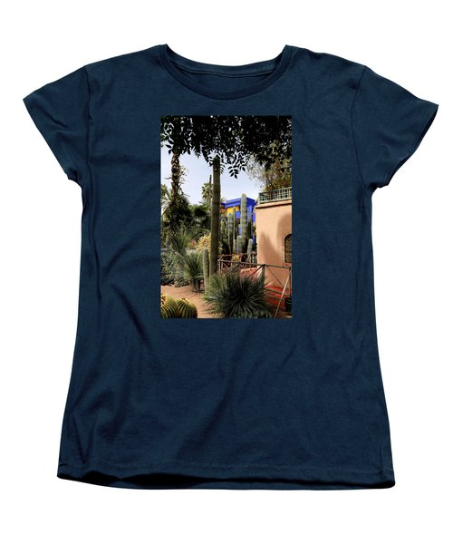 Women's T-Shirt (Standard Cut) featuring the photograph Jardin Majorelle 4 by Andrew Fare