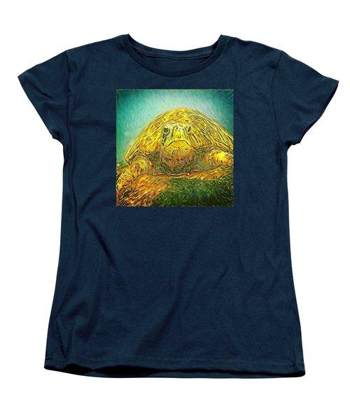 Jasmine The Turtle Women's T-Shirt (Standard Cut) by Erika Swartzkopf