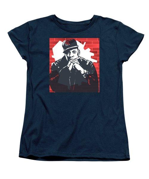 Jay Z Graffiti Tribute Women's T-Shirt (Standard Cut) by Dan Sproul