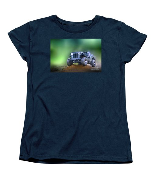 Women's T-Shirt (Standard Cut) featuring the photograph Jeep by Charuhas Images