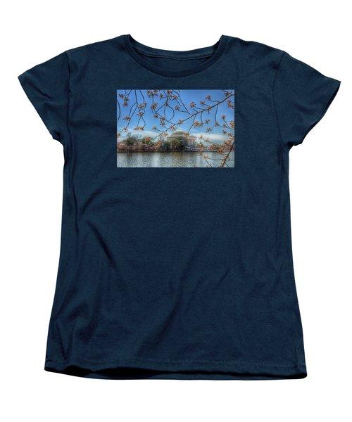 Jefferson Memorial - Cherry Blossoms Women's T-Shirt (Standard Cut)