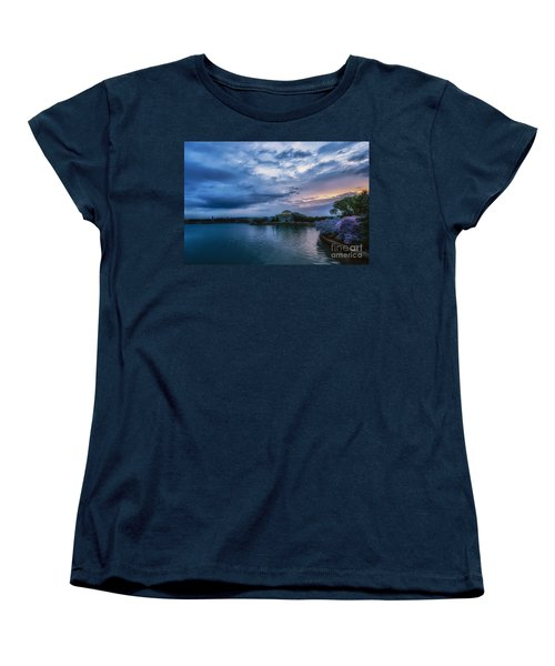 Jefferson Memorial Dawn Women's T-Shirt (Standard Cut) by Thomas R Fletcher