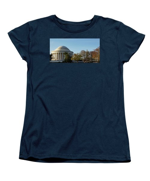 Jefferson Memorial Women's T-Shirt (Standard Cut) by Megan Cohen