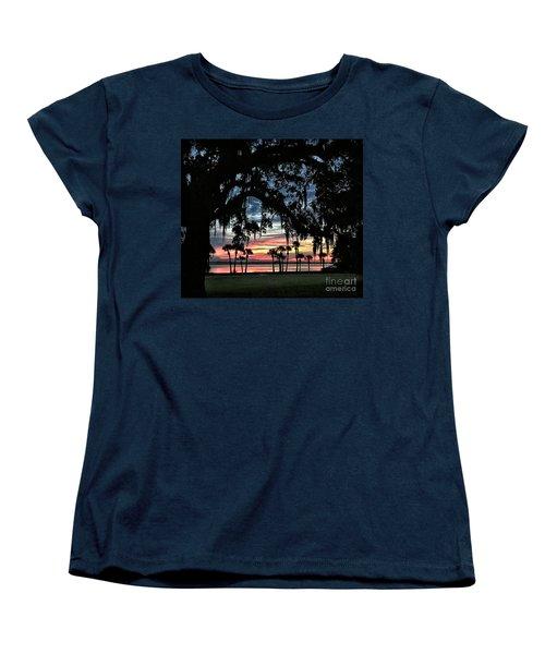 Jekyll Island Georgia Sunset Women's T-Shirt (Standard Cut) by Walt Foegelle