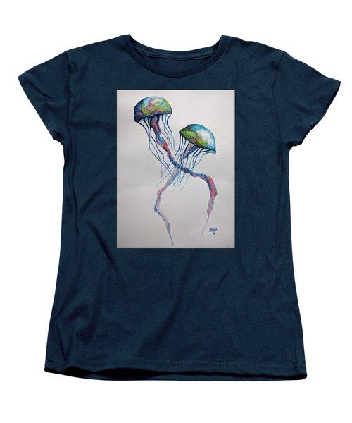 Jellyfish Women's T-Shirt (Standard Cut) by Edwin Alverio