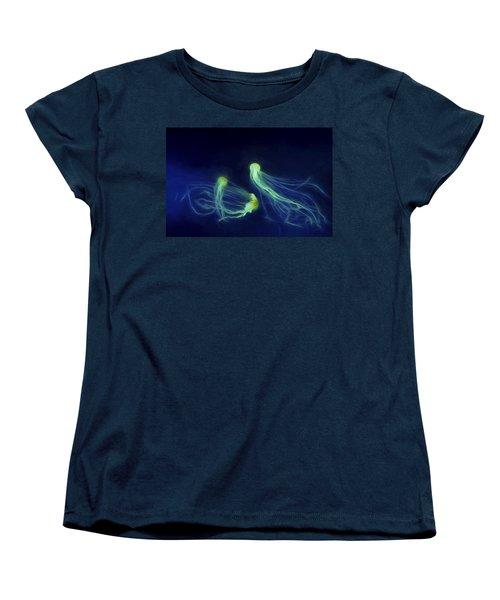 Jellyfish Tango Women's T-Shirt (Standard Cut) by Steven Richardson