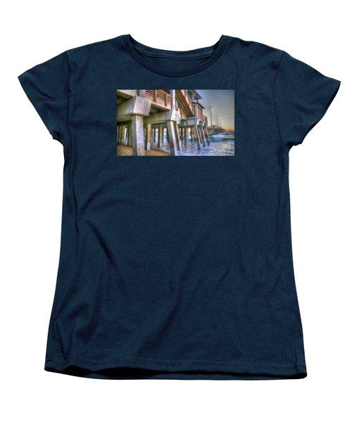 Jennette's Pier Women's T-Shirt (Standard Cut) by Scott and Dixie Wiley