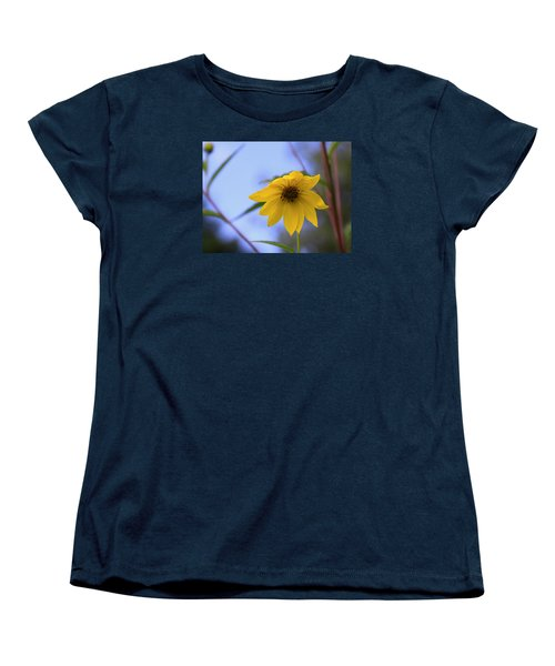 Jerusalem Artichoke And Blue Sky Women's T-Shirt (Standard Cut) by Larry Capra