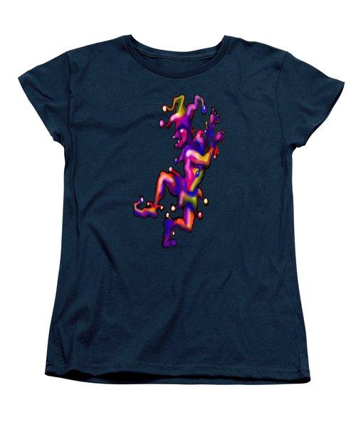 Jester On Blue Women's T-Shirt (Standard Cut) by Kevin Middleton