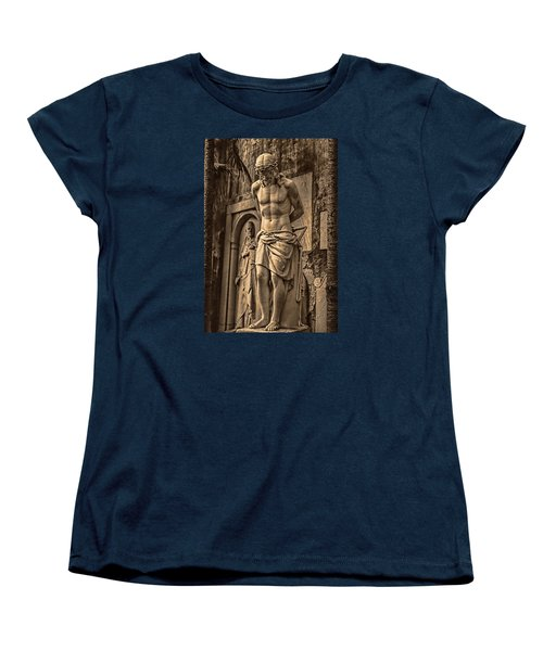 Women's T-Shirt (Standard Cut) featuring the photograph Jesus In Rome by Trey Foerster