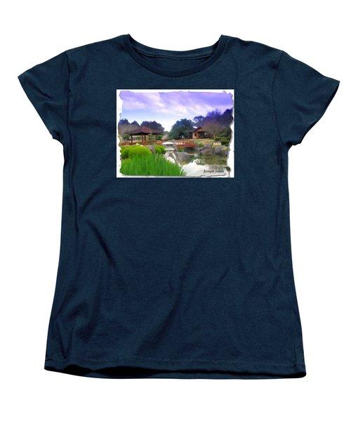 Women's T-Shirt (Standard Cut) featuring the photograph Jg-0021 Kotaji Lantern by Digital Oil