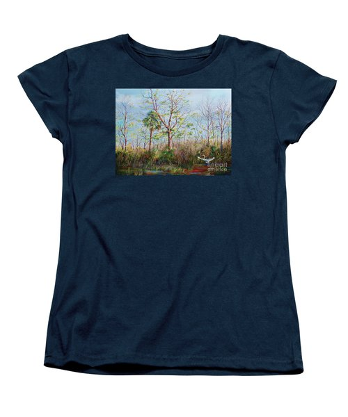 Jim Creek Lift Off Women's T-Shirt (Standard Cut) by AnnaJo Vahle