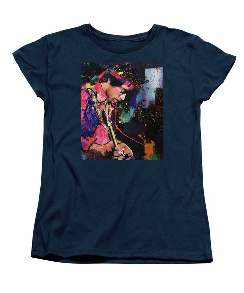 Jimi Hendrix II Women's T-Shirt (Standard Cut) by Richard Day