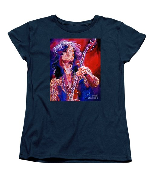 Jimmy Page Women's T-Shirt (Standard Cut) by David Lloyd Glover