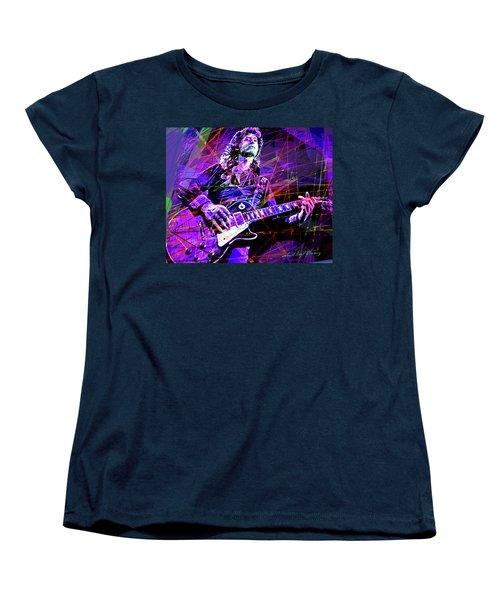 Jimmy Page Solos Women's T-Shirt (Standard Cut) by David Lloyd Glover
