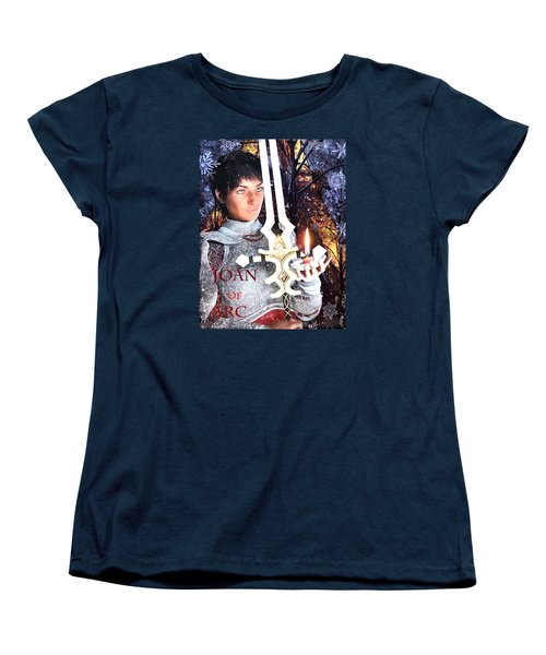 Women's T-Shirt (Standard Cut) featuring the painting Joan , Light Of France by Suzanne Silvir