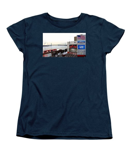 Women's T-Shirt (Standard Cut) featuring the photograph Joe Louis Arena by Michael Rucker