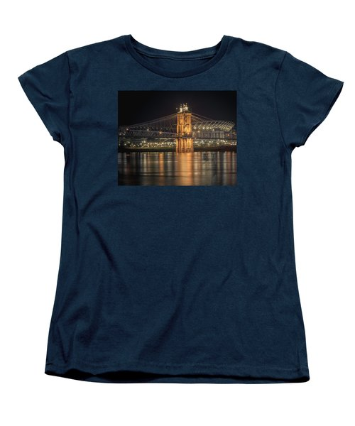 John A. Roebling Suspension Bridge Women's T-Shirt (Standard Cut) by Scott Meyer