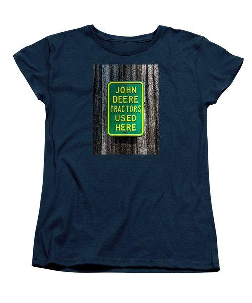 Women's T-Shirt (Standard Cut) featuring the photograph John Deere Used Here by Paul Mashburn