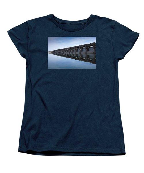 John Martin Dam And Reservoir Women's T-Shirt (Standard Cut) by Ernie Echols