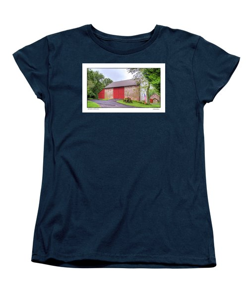 Women's T-Shirt (Standard Cut) featuring the photograph John Updike's Childhood Barn by R Thomas Berner