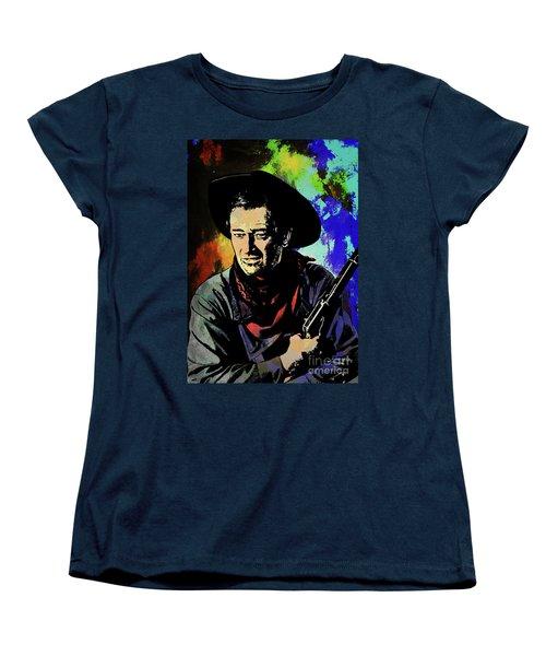 Women's T-Shirt (Standard Cut) featuring the painting John Wayne, by Andrzej Szczerski