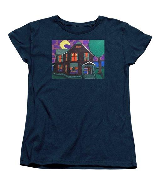Women's T-Shirt (Standard Cut) featuring the painting John Wells Home. by Jonathon Hansen