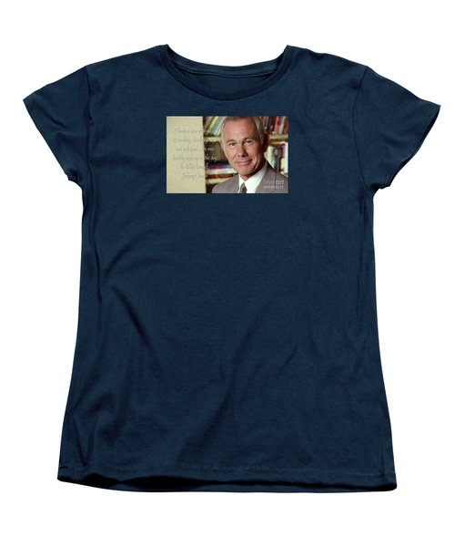 Johnny Carson On Pleasures In Life Women's T-Shirt (Standard Cut)