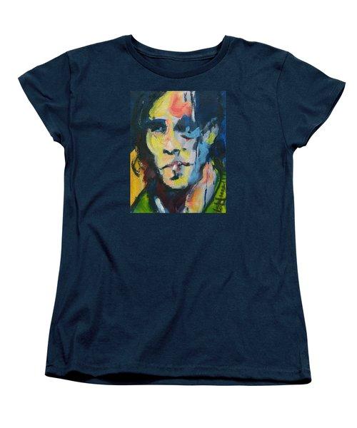 Johnny Women's T-Shirt (Standard Cut) by Les Leffingwell