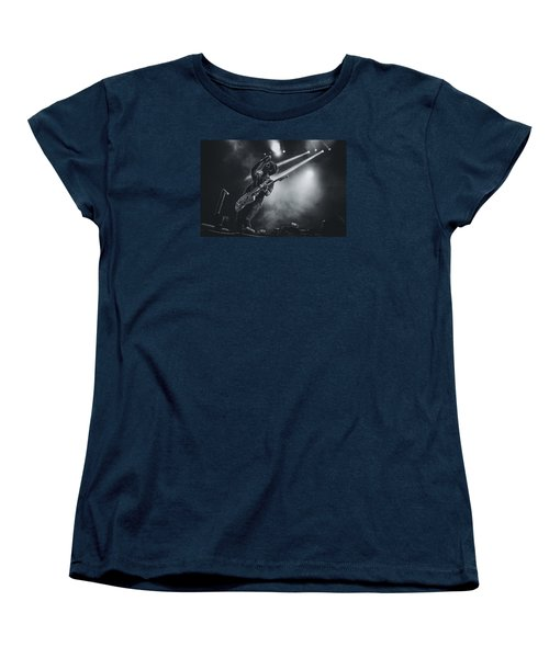 Johnny Marr Playing Live Women's T-Shirt (Standard Cut) by Marco Oliveira