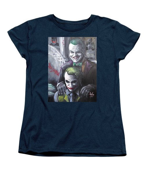 Jokery In Wayne Manor Women's T-Shirt (Standard Cut) by Tyler Haddox