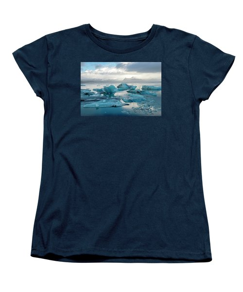 Jokulsarlon, The Glacier Lagoon, Iceland 6 Women's T-Shirt (Standard Cut) by Dubi Roman
