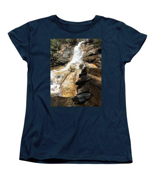 Jones Gap Falls  Women's T-Shirt (Standard Cut) by Kelly Hazel