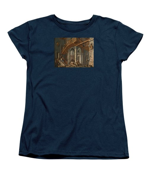 Women's T-Shirt (Standard Cut) featuring the painting Joseph Interprets The Dreams Of The Pharaoh's Servants Whilts In Jail by Alessandro Magnasco