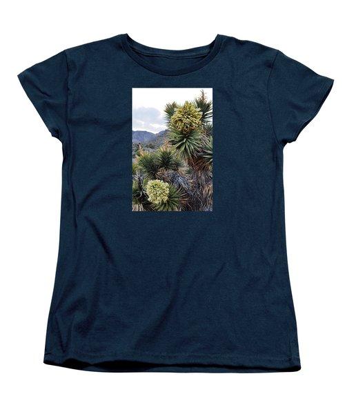 Joshua Tree Bloom Rainbow Mountain Women's T-Shirt (Standard Cut) by Kyle Hanson