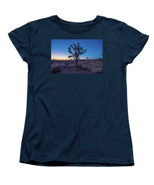 Joshua Tree Glow Women's T-Shirt (Standard Cut) by Robert Loe