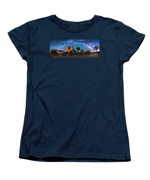 Joshua Tree Milkyway Women's T-Shirt (Standard Cut) by Robert Loe