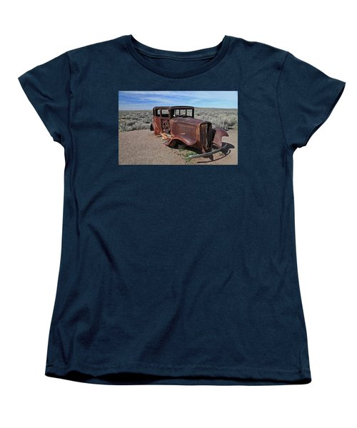 Women's T-Shirt (Standard Cut) featuring the photograph Journey's End by Gary Kaylor